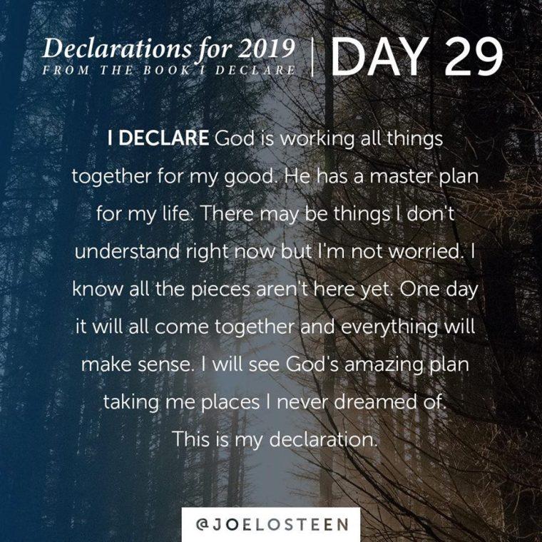 Declarations: Day 29- 31